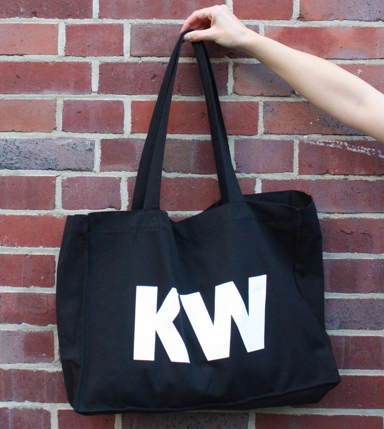 Black KW Shopping Bag